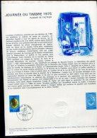 """Document Officiel  8/03/75: Plaque De Facteur""""Journée Du Timbre 1975"""" - Post"""