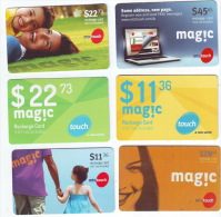 6 Used Phonecard Recharge Card MTC Touch Lebanon, Telecarte Liban - Libanon