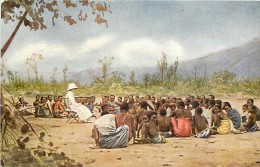 Mai13 1464 : Malawi / Nyassaland  -  Hearers Class At Mangoche  -  Yao Tribe  -  Dessin Couleur - Malawi