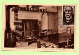 Carte  - Yvert  N° 918 - Georges CLEMENCEAU   29 / 9 / 1952   MOULLERON EN PAREDS - Cartes-Maximum