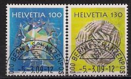 2009 Schweiz Mi. 2094-5 FD Used Bern    Hans Erni - Used Stamps