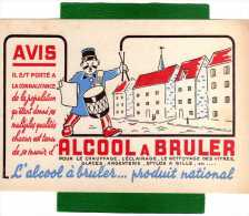 BUVARD ALCOOL A BRULER PRODUIT NATIONAL - GARDE CHAMPETRE AVEC TAMBOUR - Hydrocarbures