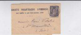 1897 - RHONE - SAGE Sur BANDE JOURNAL De La SOCIETE PHILATELIQUE LYONNAISE - 1877-1920: Periodo Semi Moderno