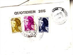 PNU 2182+2234+2235 Bande De Journal Avranches +Taxe 106 Audos (demitaxe) Donville Poste Restante - Journaux