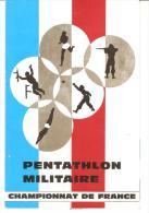 PROGRAMME PENTATHLON MILITAIRE BORDEAUX 1968 - Programs