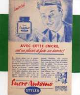 Buvard       Encre Antoine Stylex C'est Un Plaisir De Faire Ses Devoirs - Papeterie
