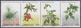 South Korea 2004 Yvert 2198-2201, Flora, Traditional Colouring Plants, MNH - Korea, South