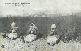 Bonne-Espérance ( Environs ) - Arracheuses De Pommes De Terre, Pendant La Pause Repas -1912  ( Voir Verso ) - Estinnes