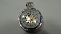 X OROLOGIO DA TASCHINO LOIRE COLLECTION HERITAGE DE AGOSTINI ARGENTATO MECCANISMO A VISTA - Jewels & Clocks