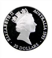 Australie - Jeux Olympiques - 20 Dollar - 1996 - Argent -  Natation  - Sup - Sous Capsule - Colecciones