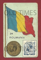 ROMANIA - FLAG-COIN AND STAMP - ARMAZENS DO GLOBO - OLD ADV. CARD. - Publicités