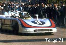 X TARGA FLORIO 1971 PORSCHE 908/3 ELFORD - LARROUSSE FOTO RIPRODUZIONE 13 X 18 - Riproduzioni