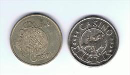 "LOTE 2  FICHAS * CASINO Diferentes ""ver Foto"" - Casino"