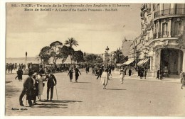 CP, 06, Nice, Un Coin De La Promenade Des Anglais à 11 Heures - Bain De Soleil, Voyagé En 1924 - Nice