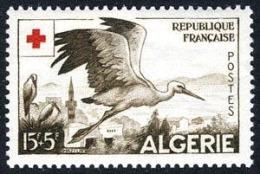 Algeria B89 Mint Never Hinged 15f+5f Stork Semi-Postal From 1957 - Argelia (1924-1962)