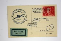 Netherlands 1928 Swedisch Air Mail Amsterdam London Luftpostex Overnight Service. Cat Nr 46 C