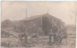 Lallaing Grande Guerre 14.18 Groupe De Soldats Allemands Avant Que Le Quartier, Printemps 1918 Privee Photo Cartes - Douai