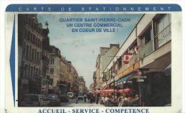 Télécarte :  Carte  De  Stationnement :  CAEN - Frankreich