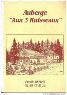 """Plaquette Publicitaire   -    FRELAND -  Auberge  """" Aux Trois Ruisseaux""""  - - Plaques Publicitaires"""