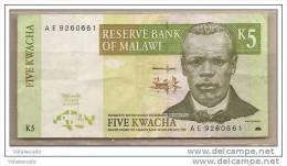Malawi - Banconota Circolata Da 5 Kwacha - 1997 - Malawi