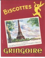 BUVARD - BISCOTTES GRINGOIRE - Zwieback