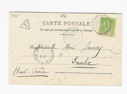 SENEGAL N° 21 5 C SUR CARTE POSTALE OBL MARITIME + TAXE - Sénégal (1887-1944)
