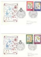 SMOM FDC 1968 SEDI DELL´ORDINE - GERUSALEMME CIPRO RODI MALTA ITALIA - Malte (Ordre De)