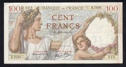 100 F SULLY  25/01/1940 - TTB - 1871-1952 Anciens Francs Circulés Au XXème