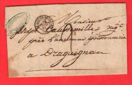 Lettre du 10 Janvier1849 ( 1er jour o� la GRILLE remplace le cad surTP.), L'exp�diteur n'a pu avoir de timbre