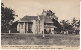 Lagos Nigeria, Colonial Chapel Race Course, On C1910s Vintage Postcard - Nigeria