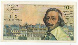 10 NF Richelieu, Fayette 57/13, état SPL - 1959-1966 ''Nouveaux Francs''
