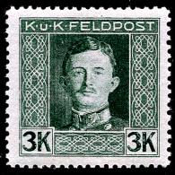 Austria-Feldpost 1917/18, ANK # 70, 3 K,  Mint/LH - Usati