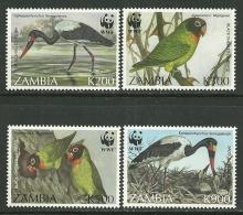 "Zambia     "" Birds-World Wildlife Fund ""  Set    SC# 654-57  MNH** - Birds"