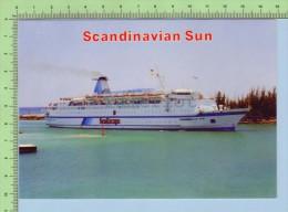 Sea Escape   ( Scandinave Sun )  2 Scan Post Card Carte Postale - Piroscafi