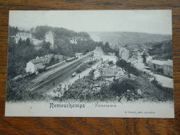 REMOUCHAMPS Panorama ( O.a. Station ) Anno 1911 ( Zie Foto´s Voor Details ) !! - Aywaille