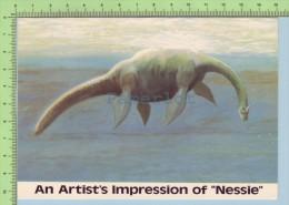 "( An Artist's Impression Of ""NESSIE""  Le Monstre Du Loch Ness)  2 Scan Post Card Carte Postale - Contes, Fables & Légendes"