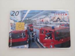 Switzerland Chip Card, Fireman,used - Firemen