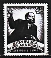 Roumanie 1076 25e Anniversaire De La Mort De Lénine - Lenin