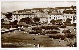 AVON - WESTON SUPER MARE - THE WINTER GARDENS PUTTING GREEN RP Av195 - Weston-Super-Mare