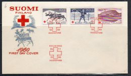 Red Cross Scarce Early FDC 1960 Michel 528-30 (F17) - FDC