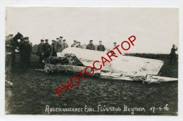 BEYTHEM-Avion Anglais Abattu-17-1-16-Aviation-C ARTE PHOTO Allemande-GUERRE 14-18-1WK-BELGIQUE-BELGIE N-Fliegerei- - Roeselare