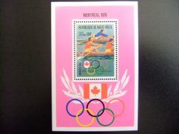 HAUTE - VOLTA REPUBLIQUE  ALTO VOLTA 1976 Juegos Olimpicos De Verano Montreal  Yvert Nº Blok 5 AM ** MNH - Verano 1976: Montréal