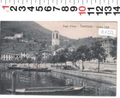 A01252 TAVERNOLA LAGO D ISEO LUNGOLAGO  1927 - Bergamo