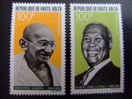 HAUTE - VOLTA REPUBLIQUE  ALTO VOLTA 1968 Gandhi - Lutuli  Yvert Nº PA 61 / 62 ** MNH - Mahatma Gandhi