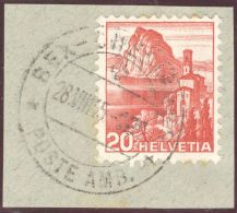Heimat Bahnlinie BEX-Chesière 1945-08-28 Auf Briefstück - Suisse