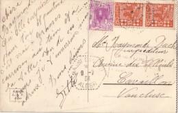 ALGERIE- HASSI BAHBAH DU 9-7-1934 - BEL AFFRANCHISSEMENT POUR LA FRANCE. - Algeria (1924-1962)