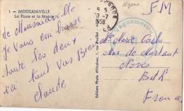 ALGERIE - 14e RCP LE VAGUEMESTRE-CARTE POSTALE DE MOUZAIAVILLE LE 20-7-1956. - Poststempel (Briefe)