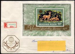 UNGARN 1971 - Welt Jagdausstellung In Budapest - Reko Brief Block 82 - Gibier