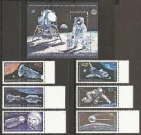 ESPACIO - BULGARIA 1990 - Yvert #3342/47+H167 - MNH ** - Espacio