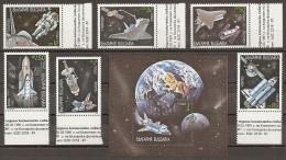 ESPACIO - BULGARIA 1991 - Yvert #3385/90+H170 - MNH ** - Espacio